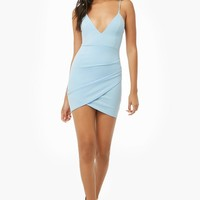 Faux-Wrap Bodycon Dress