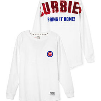 Chicago Cubs Bling Varsity Crew - PINK - Victoria's Secret