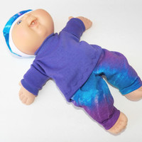 Cabbage Patch Clothes, or Bitty Baby Clothes girl doll HANDMADE purple pants set