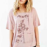 Truly Madly Deeply Nature Block Scoop-Neck Tee- Pink