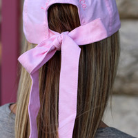 LAUREN JAMES: Oxford Bow Hat {Pink}