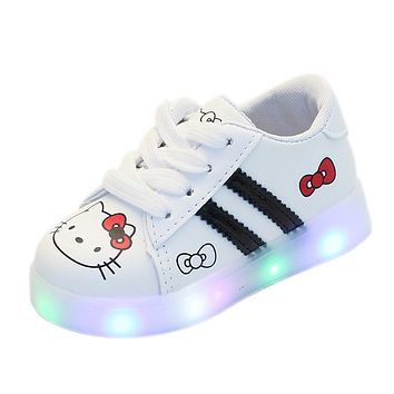 Hello Kitty Led Light Up Luminous Glowing Sneaker Back To School