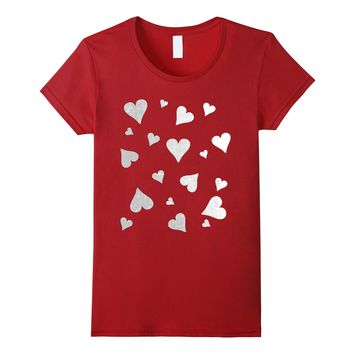 Grunge Hearts T-shirt Valentines Day