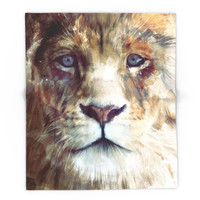 Society6 Lion // Majesty Blanket