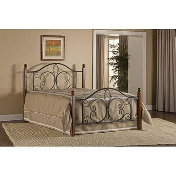1422-milwaukee-wood-post-bed-king-bed-frame-included