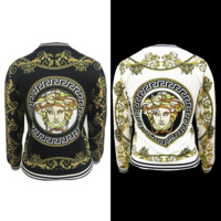 VERSACE Fashion Women Man Personality Print Long Sleeve Sport Coat Jacket