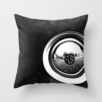 VW Beetle Throw Pillow by ingz