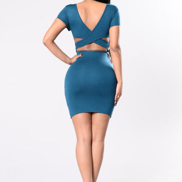 Easy Pick Dress - Olympic Blue