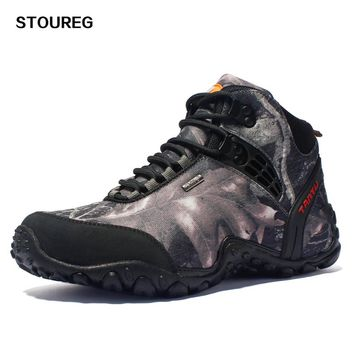 New Camo Hunting Boots Waterproof Canvas Hiking Shoes Outdoor Tactical Boots Fishing Shoes 39-46