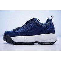 fila disruptor ii 2 running shoes drak blue fw0165 042