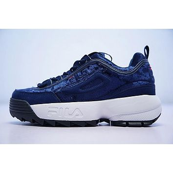 FILA Disruptor II 2 Running Shoes Drak Blue FW0165-042