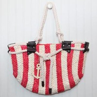 anchor home! woven bag in red - $33.99 : ShopRuche.com