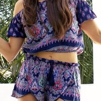 Womens 2 Piece Chiffon Boho Set
