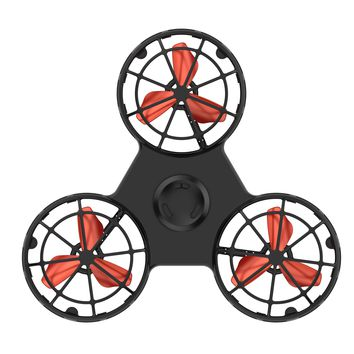 New flying fidget spinner drone cube squeeze roller ring flying toy electronic anti stress relief toys for kids children