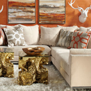 Ventura Mandarin Living Room Inspiration look on @ZGallerie
