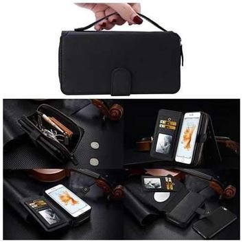 iPhone Clutch Style Purse with Compact Mirror and Removable Phone Case
