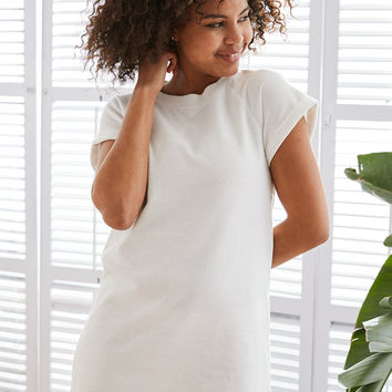 Aerie Fleece Dress, White