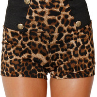 Papaya Clothing Online :: HIGH WAIST LEOPARD SHORT
