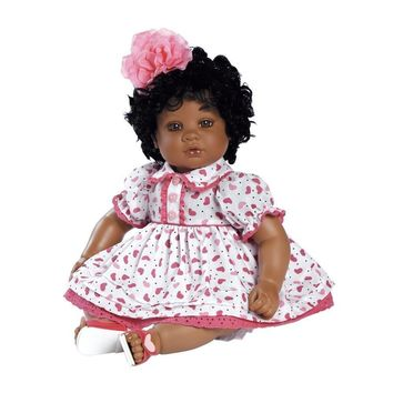 "Adora My Heart Black Hair with Brown Eyes 20"" Baby Doll"