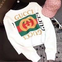 Gucci 2018 Latest Fashion Trend Hot Round Neck Long Sleeve Sweater F