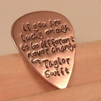 Taylor Swift-Your Favorite Lyrics Guitar Pick-flower girl-wedding-teen-bridesmaid