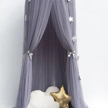 1PC Circular Grey( Multi colors Option) Canopy Bed Valance
