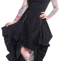Black Steampunk Victoriana Dress