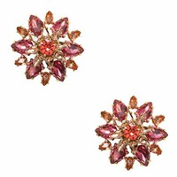 trellis blooms giant statement studs