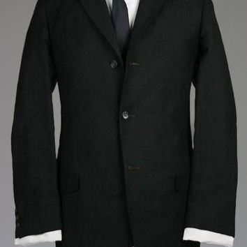 Vintage 60s Charcoal Flannel Wool Blazer/Jacket 41 R Monkey Suit