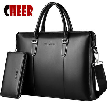 2017 new fashion men bag men handbag made pu leather Shoulder bag messenger briefcases bags designer handbags high quality