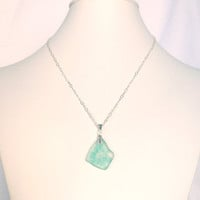 Hand Blown Glass Pendent Necklace
