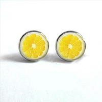 Lemon Stud Earrings