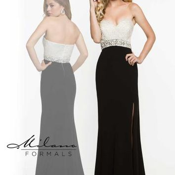 Milano Formals Beaded Long Dress E1871