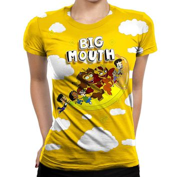 Big Mouth Flying Banana Womens T-Shirt