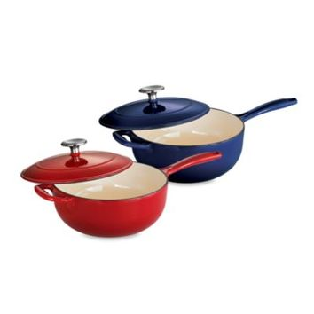 Tramontina® Gourmet Cast Iron Series 1000 3-Quart Covered Sauciers