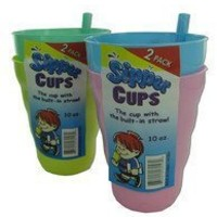 Bulk Buys Sipper cup with built-in straw Case Of 24