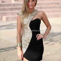 MY NIGHT SEQUIN DRESS 2.0 , DRESSES, TOPS, BOTTOMS, JACKETS & JUMPERS, ACCESSORIES, SALE, PRE ORDER, NEW ARRIVALS, PLAYSUIT, COLOUR, GIFT VOUCHER,,CUT OUT,Sequin,Gold,BODYCON,SLEEVELESS,Black Australia, Queensland, Brisbane