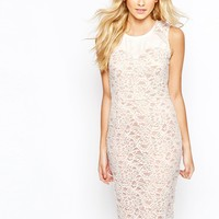 Oasis Lace Panel Shift Dress