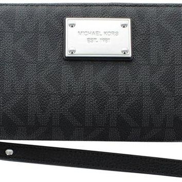 LMFON MICHAEL Michael Kors Jet Set Travel Logo Continental Wallet
