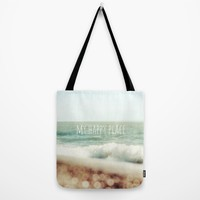 Beach - My Happy Place Tote Bag by ALLY COXON | Society6