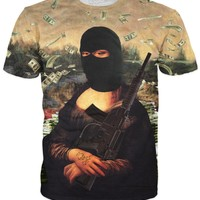 Gangster Mona Lisa T-Shirt *Ready to Ship*