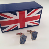 Doctor Who Inspired TARDIS Cuff Links