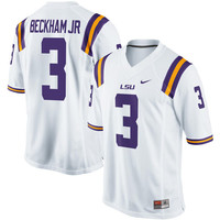Men's Nike Odell Beckham Jr White LSU Tigers Alumni Football Game Jersey