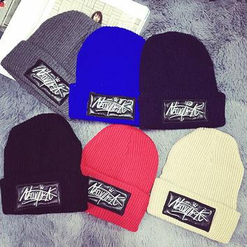 New York Winter Embroidery Knit Hats [9469419719]