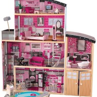 KidKraft Sparkle Mansion Wood Furnished Doll House Play Set Dolls Furniture Girl