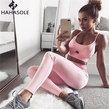 Yoga Sets tracksuit for Women Sexy Gym Fitness Bra+Pants Clothing Suit Sports Running Girls Slim Gym Set Sport Outfit HWX0040