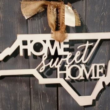 NC Home Sweet Home Door Decor