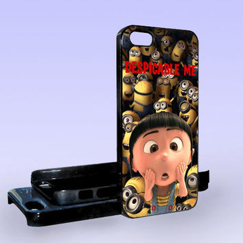 Despicable Me Minion Cute - Print on Hard Cover - iPhone 5 Case - iPhone 4/4s Case - Samsung Galaxy S3 case - Samsung Galaxy S4 case