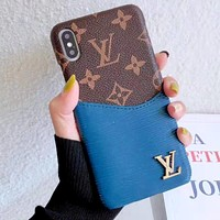 LV Tide brand iPhone XS Max mobile phone case cover