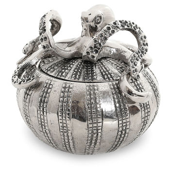 Octopus & Sea Urchin Covered Jar, Covered Serving Dishes & Tureens